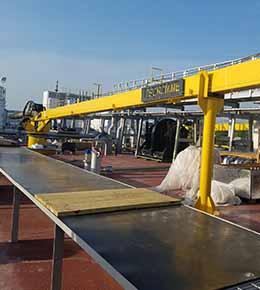 Techcrane F10 6 Ton Marine Offshore Crane