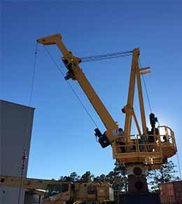 Techcrane GT30 All Electric Telescopic Marine Offshore Crane