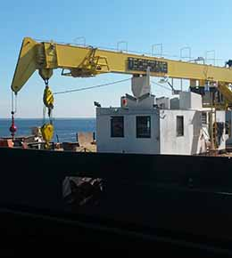 Techcrane T80 50 Ton Marine Offshore Crane
