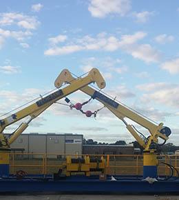 Techcrane F5 2.5 Ton Marine Offshore Crane