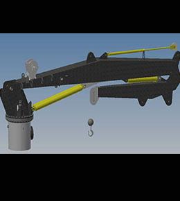 Techcrane K20 Marine Offshore Crane
