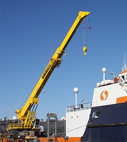 Techcrane T200 110 Ton Marine Offshore Crane