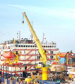 Techcrane F200 110 Ton Marine Offshore Crane