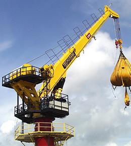 Techcrane F250 125 Ton Marine Offshore Crane