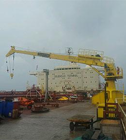 Techcrane F60 40 Ton Marine Offshore Crane