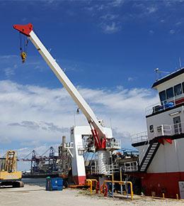 Techcrane F80 50 Ton Marine Offshore Crane